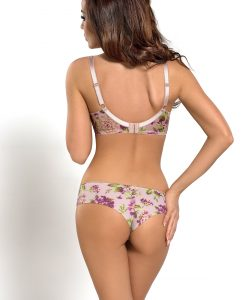 satin candy margo bra and brazilian panty set feminine floral lingerie